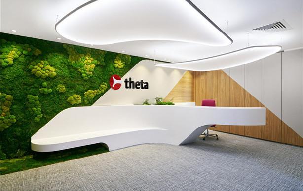企业logo墙设计_公司前台背景形象墙